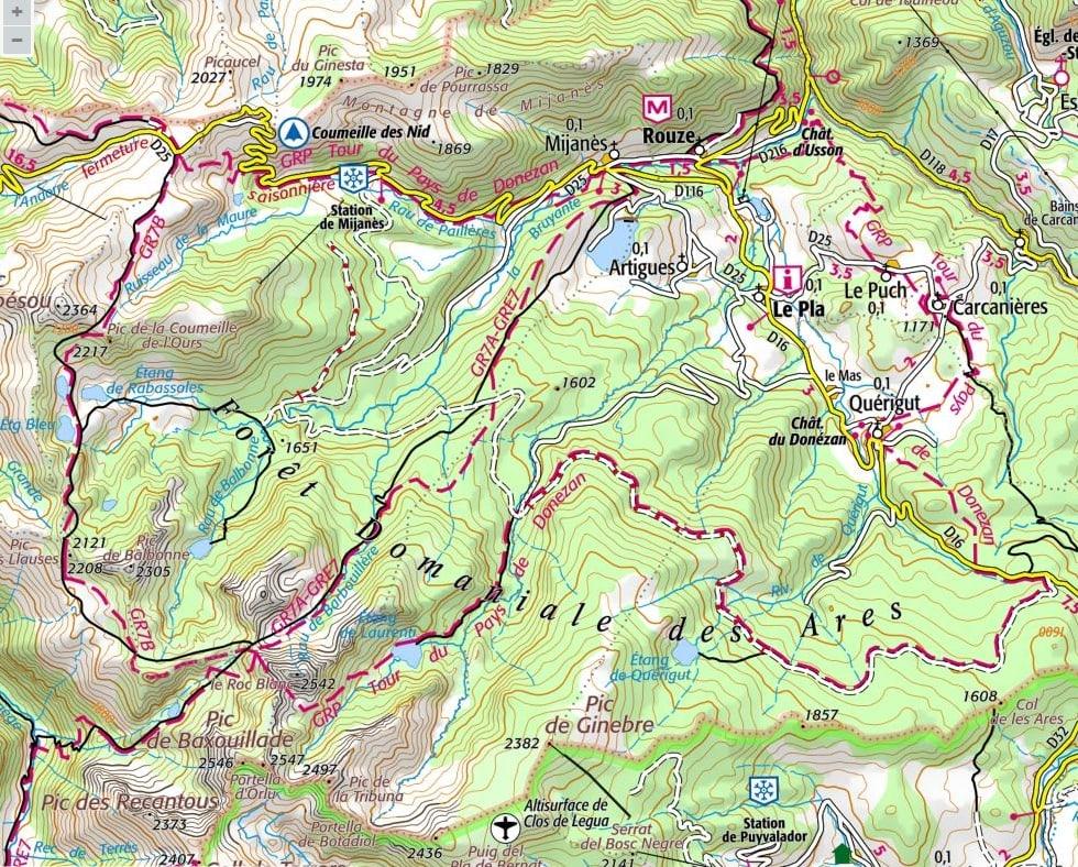 carte tour du Pays Donezan
